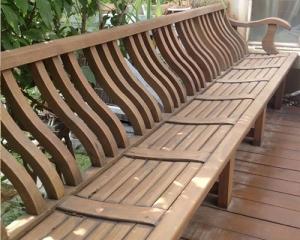 毕节防腐木座椅