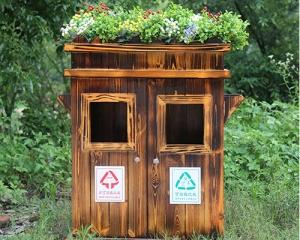 贵阳防腐木垃圾箱