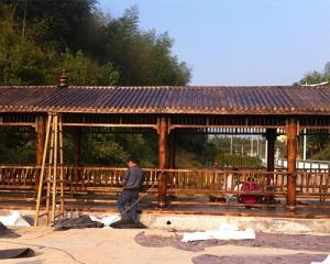 贵阳防腐木长廊